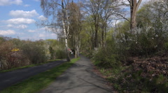 4k Braunschweig allotment colony plots in beautiful spring season Stock Footage