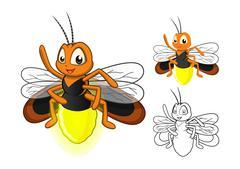 Firefly Cartoon Character - stock illustration