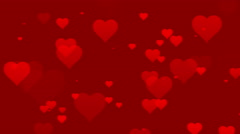 Seamless Hearts Motion Background Version 2 Red Stock Footage