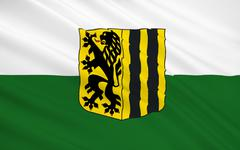 Flag of Dresden - a city in Germany, the administrative center of Saxony Stock Illustration
