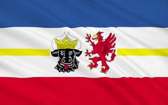 Flag of Mecklenburg-Western Pomerania is a federated state in northern German Stock Illustration