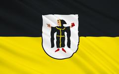 Flag of Munich is the capital and largest city of the German state of Bavaria - stock illustration