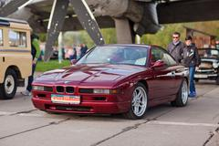 KYIV, UKRAINE - April 22, 2016: Car BMW 850 at festival of vintage cars OldCa Stock Photos