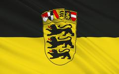 Flag of Baden-Wurttemberg - the land of Germany - stock illustration