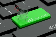 Add to cart keyboard button Stock Illustration