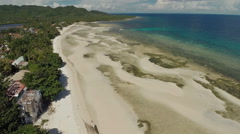 Philippine beach. Aerial view. Anda City Stock Footage