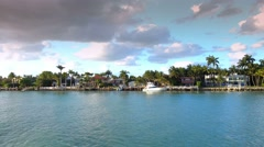 Small Islands around Miami - home of celebrities - stock footage