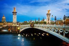Bridge of Alexandre III,  Paris, France - stock photo