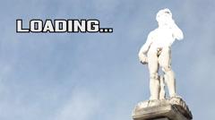 Loading statue greek athlete Arkistovideo