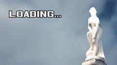 Loading statue greek woman Stock Footage