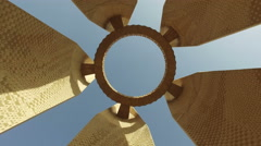 Detail of the Russian-Egyptian Friendship Monument in Aswan, Egypt. Stock Footage