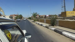 Street view of Daraw, Egypt Stock Footage