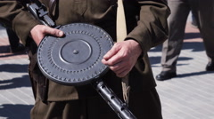 Soviet light machine gun Stock Footage