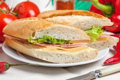 Italian panini sandwich. Stock Photos