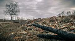 Ruins of buildings - stock footage