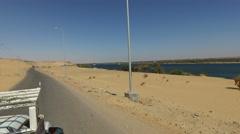 Aswan bridge, Egypt. - stock footage