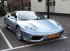 Ferrari 360 in blue - stock photo