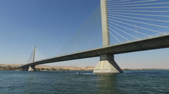 Aswan bridge over Nile river - stock footage