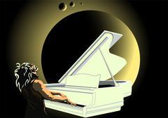 Moonlight Sonata Stock Illustration