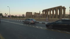Street view of Luxor Temple Stock Footage