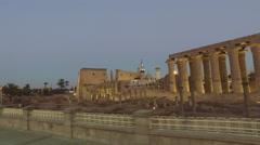 Karnak temple in Luxor Stock Footage