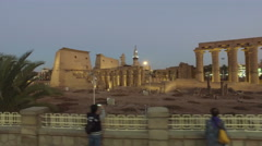 Karnak temple in Luxor Stock Footage