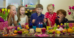 Birthday with Friends 4K - stock footage