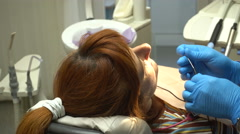 Dentistry Young Woman, Anesthesia Injection - stock footage