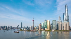 Time lapse-ShangHai Skyline in cloudy day Stock Footage