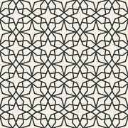 Abstract seamless geometric islamic wallpaper pattern - stock illustration