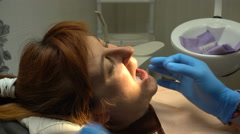 Dentistry Young Woman, Pain Relief and Sealing Stock Footage