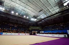 Interrior of sport arena Druzhba Stock Photos