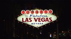 "4K: Classic ""Welcome to Fabulous Las Vegas Sign"" - stock footage"