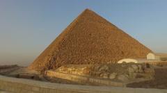 Great pyramid of Khufu at Giza, Egypt Stock Footage