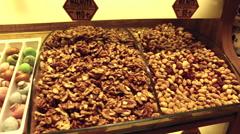 The Spice Bazaar Misir Carsisi or Egyptian Bazaar in Istanbul Stock Footage