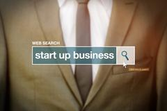 Start up business web search bar glossary term - stock photo