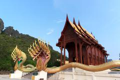 Buddhism temple the teak of worship in Thailand - stock photo
