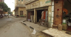 Street view of Giza in Egypt Stock Footage