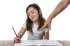Time for home work - stock photo