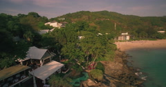 Luxury Resort and Holiday Villas on Dramatic Coastline in Phuket Thailand Stock Footage