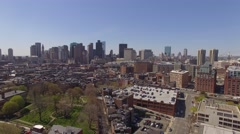 Aerial Boston looking downtown, Massachusetts Stock Footage