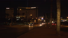 4K: The Mandalay Bay Resort Hotel and Casino Las Vegas Strip Stock Footage
