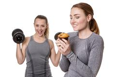 Concept Of Weight Gain And Loss Stock Photos