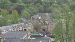 Hebden Bridge Valley View - stock footage