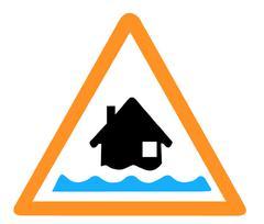 Flooding Alert Symbol Stock Illustration