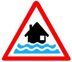 Flood Warning Symbol Stock Illustration