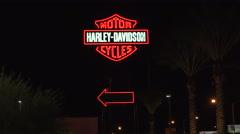 4K: Harley-Davison of Las Vegas - Las Vegas Strip South Stock Footage