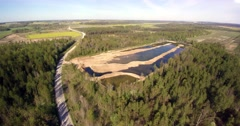 Aerial landscape of latvian countryside. Stock Footage