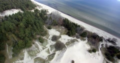 Sandy coast of Baltic sea, gulf of Riga, Latvia. Stock Footage