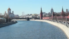 Bright Day In Moscow Stock Footage